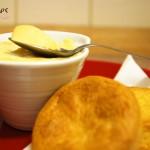 Mousse vanillé au Kaki Persimon et son sablé.