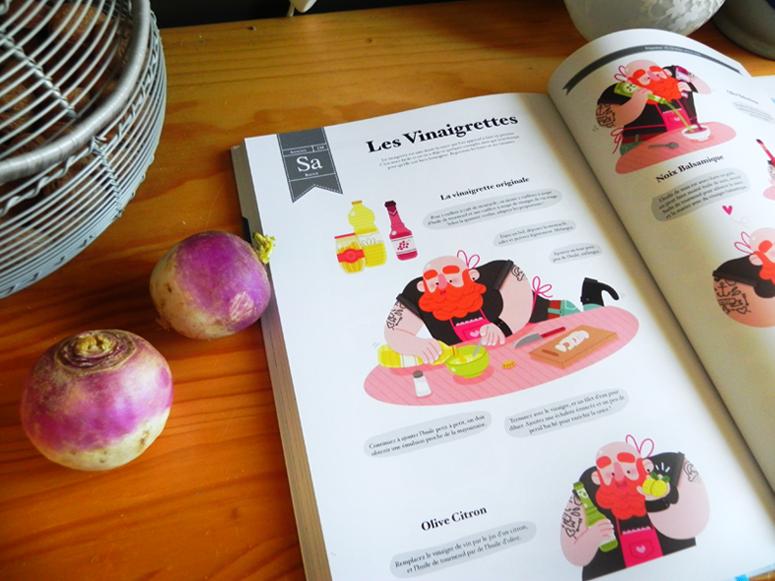 Maëlle Cheval pour CFSL - Ma cuisine illustrée, printemps - http://knackis.blogspot.fr