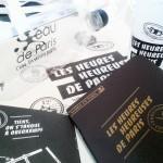 Kit de l'événement des Heures Heureuses offert par la Mairie de Paris lors du retrait du passeport