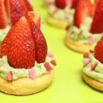 Tartelette fraise/pistache façon Crookies