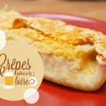 Crêpe à la bière fourrée jambon/champignons/béchamel