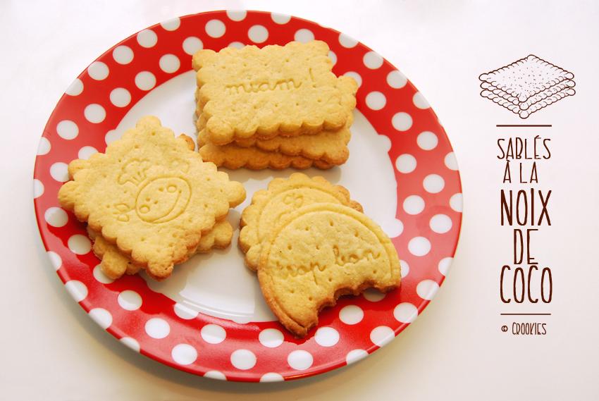 Biscuits sablés à la noix de coco - © Crookies