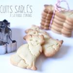 Des biscuits sablés faits avec les emportes-pièce de l'Atelier des sens (boutique l'effet maison)