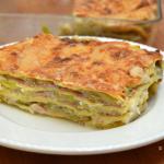 lasagnes courgettes/chèvre/jambon avec une pâte maison ! © Crookies