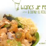 Blancs de poulet et chutney de pêches de nos régions - © Crookies
