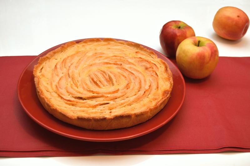 tarte normande aux pommes sans calvados - © Crookies