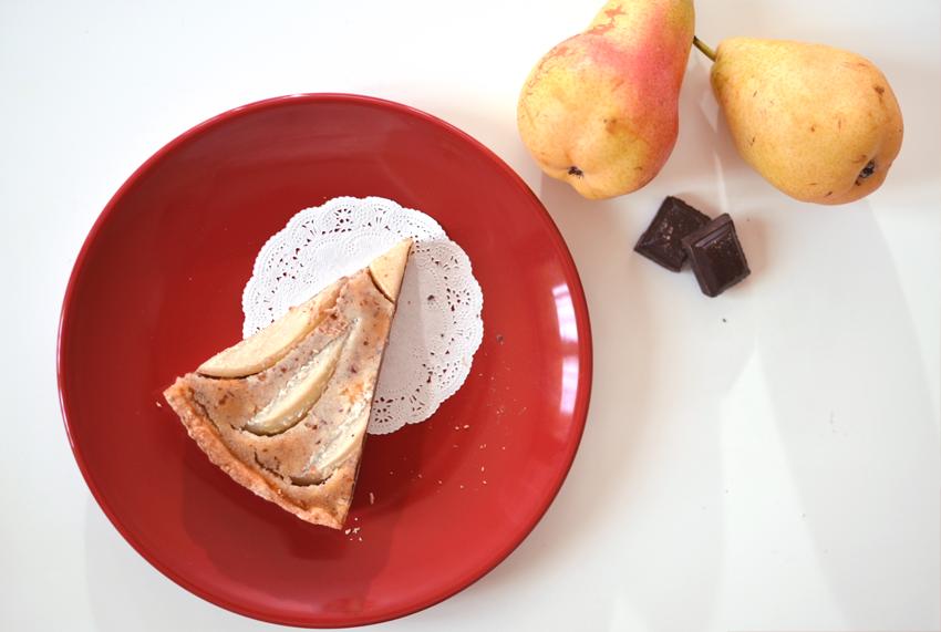 Tarte amandine poire/chocolat - © Crookies
