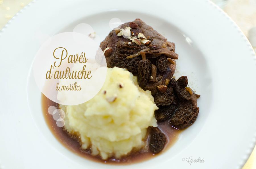Pavé d'autruche, morilles et purée de pommes de terre - D'après une recette Picard. Crédit photo : © Crookies
