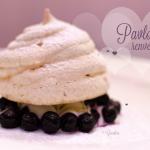 Pavlova renversée aux myrtilles - Recette Picard - Photo : © Crookies