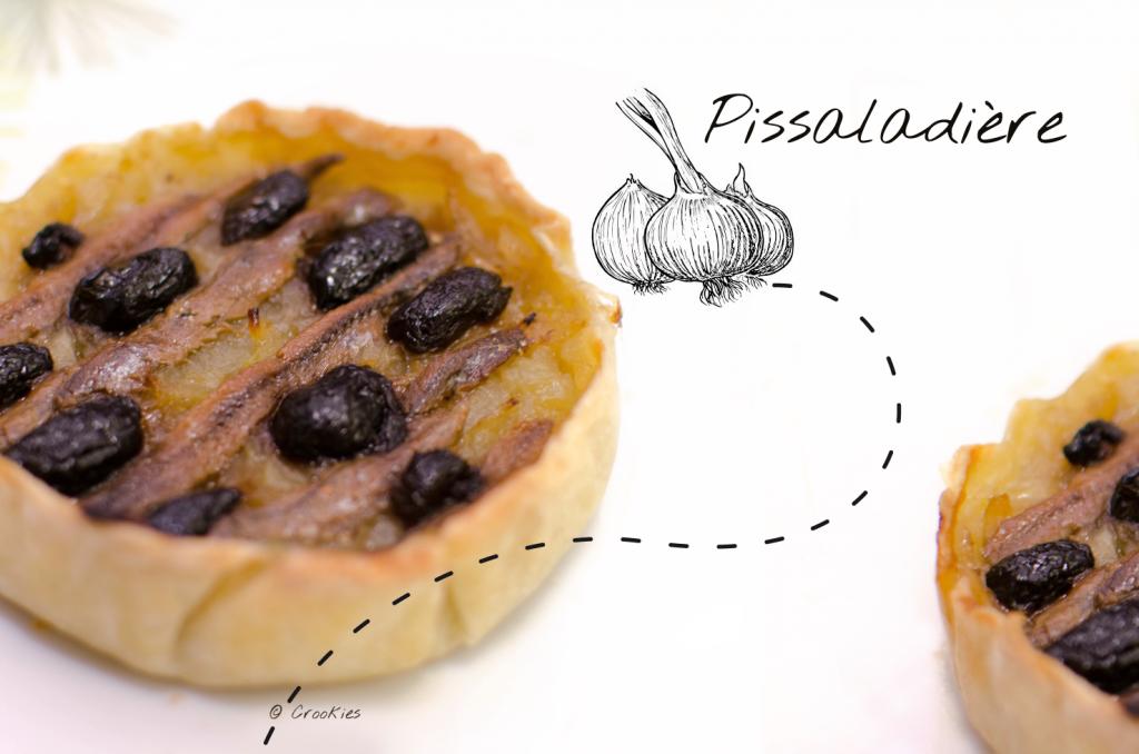 Pissaladière | Tarte niçoise aux oignons, anchois et olives noires par Crookies