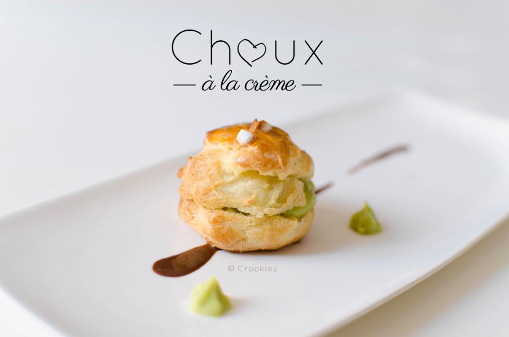 Chou fourré à la crème pâtissière parfumée à la pistache - photo © Crookies