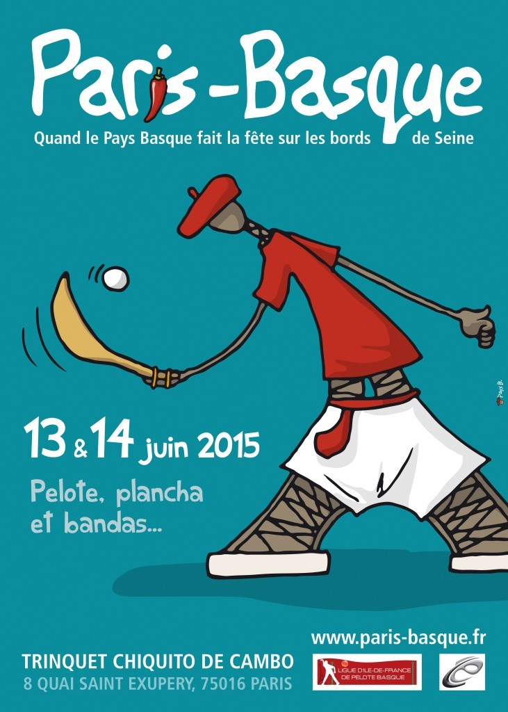 Affiche de la première édition de Paris Basque 2015