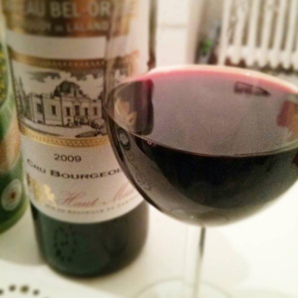 La bouteille de vin rouge du Haut Médoc livrée par Le Truc Rouge. Testée et approuvée ! - Photo © Crookies