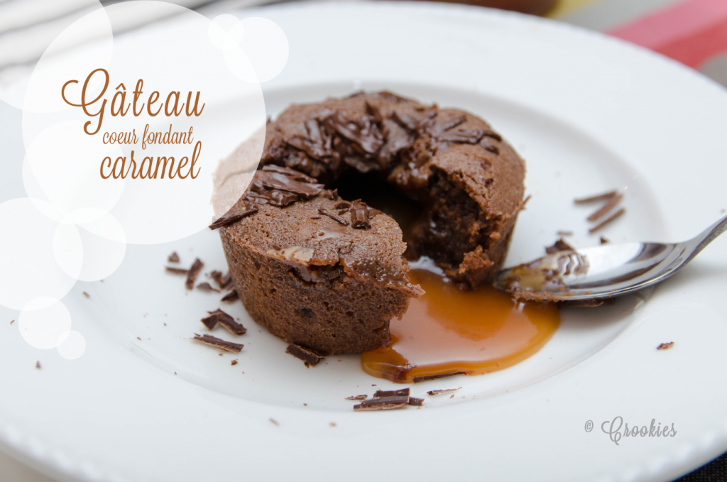 Gâteau au chocolat, cœur coulant caramel d'Instinct Gourmet - Photo © Crookies