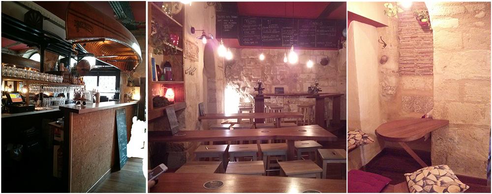 Bar et salle de la micro-brasserie Au Nouveau Monde à Bordeaux - Photo © Crookies