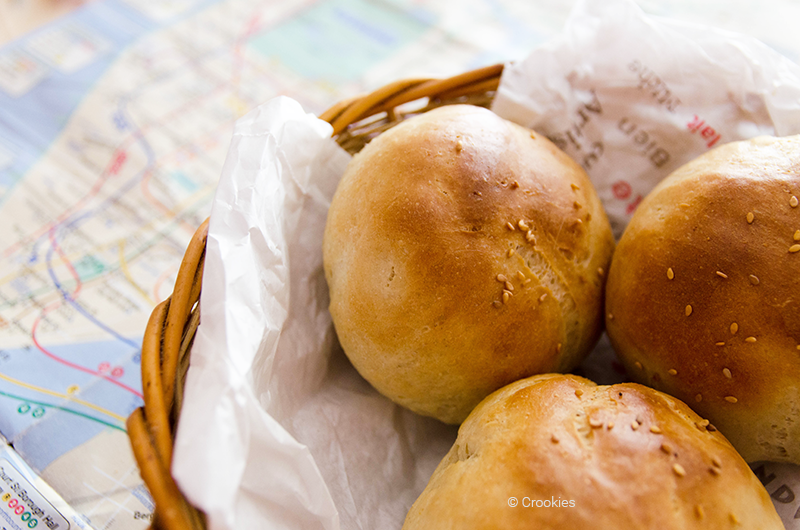 """Pains briochés ou """"buns"""" à burger - Photo © Crookies"""