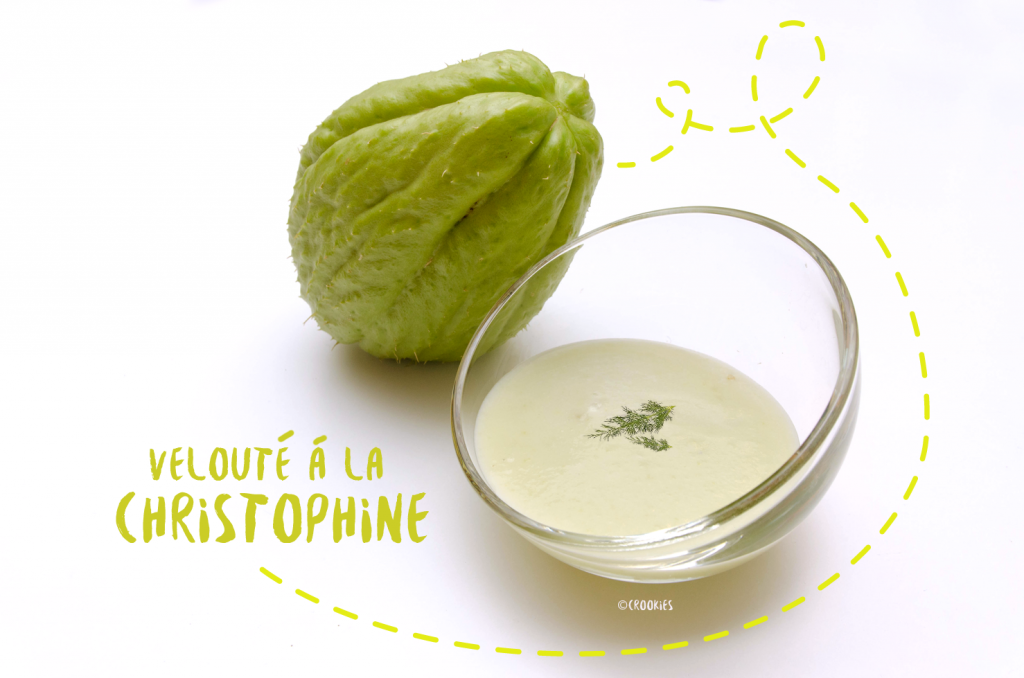 Velouté exotique de Christophine (ou chayotte) au lait de coco - Photo © Crookies