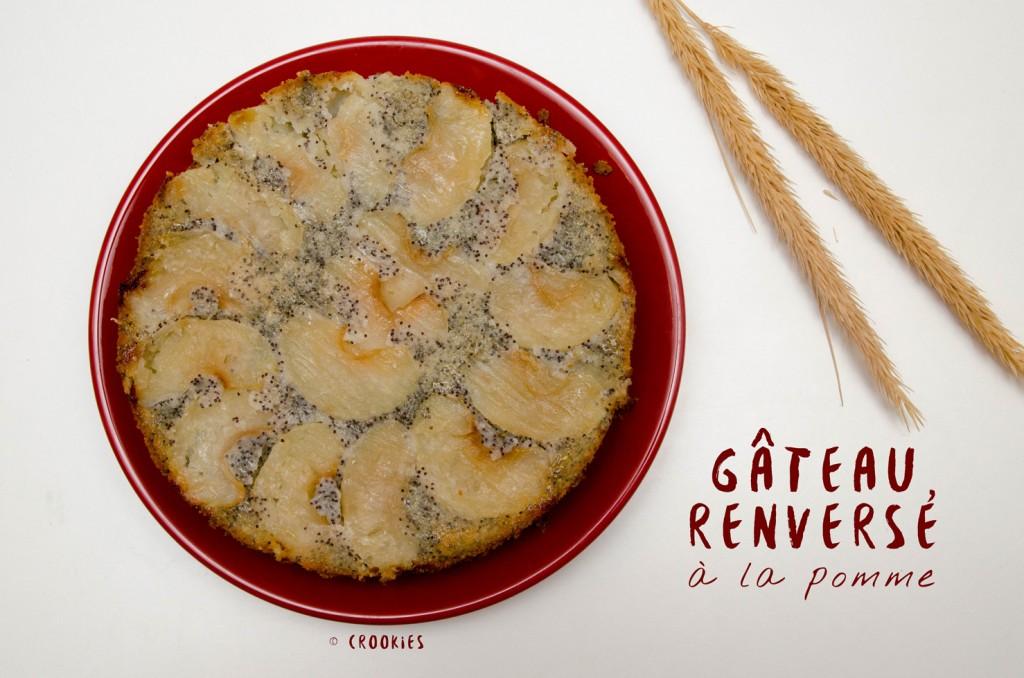 Gâteau renversé à la pomme et parfumé au rhum - © Crookies