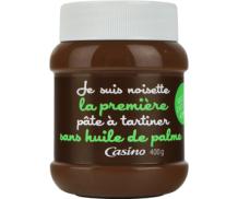 Noisettes, la pâte à tartiner sans huile de palme Casino