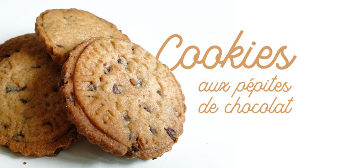 photo des cookies aux pépites de chocolat