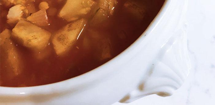 Photo de la recette de soupe au poisson à la tomate