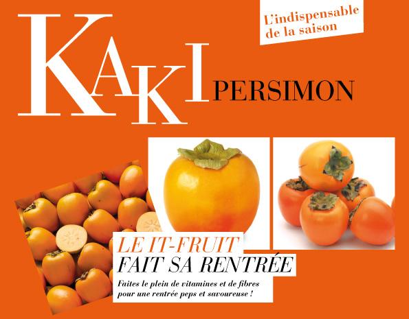 Voilà à quoi ressemble ce fruit. La variété Persimon est une espèce de kaki qui le distingue des autre par sa texture croquante. Appellation d'Origine Protégée