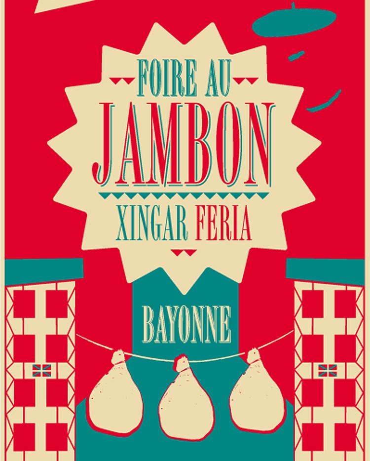 Affiche de l'édition 2013 de la foire au jambon