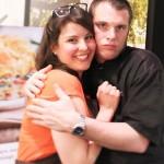 Norbert et moi pendant l'atelier cuisine :)