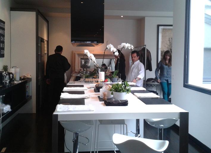 L'atelier cuisine avant le début de l'activité