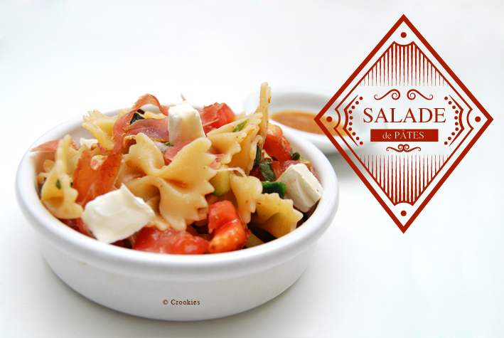 Salade de pâtes aux légumes et jambon - © Crookies
