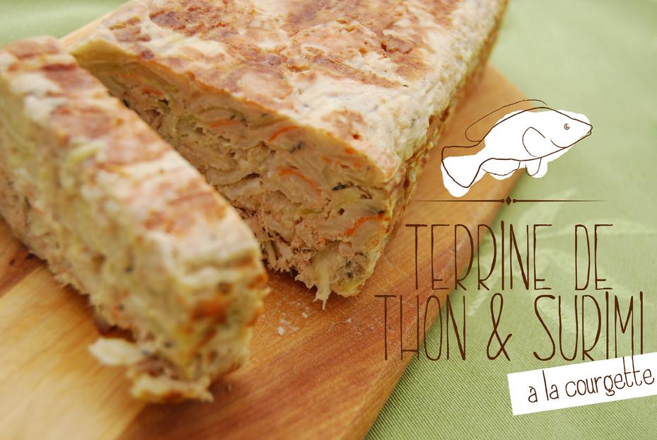 Terrine de thon & surimi à la courgette - © Crookies