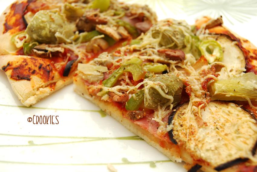 Zoom sur ma pizza 4 saisons à ma façon - © Crookies
