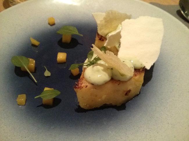 Crème au citron et ananas rôti - Miniatures