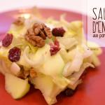 Salade d'endives aux pommes, noix et canneberges - © Crookies