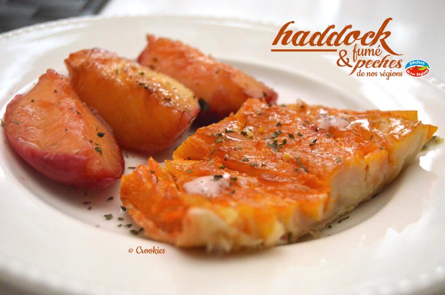 Haddock fumé et nectarines de nos régions - © Crookies