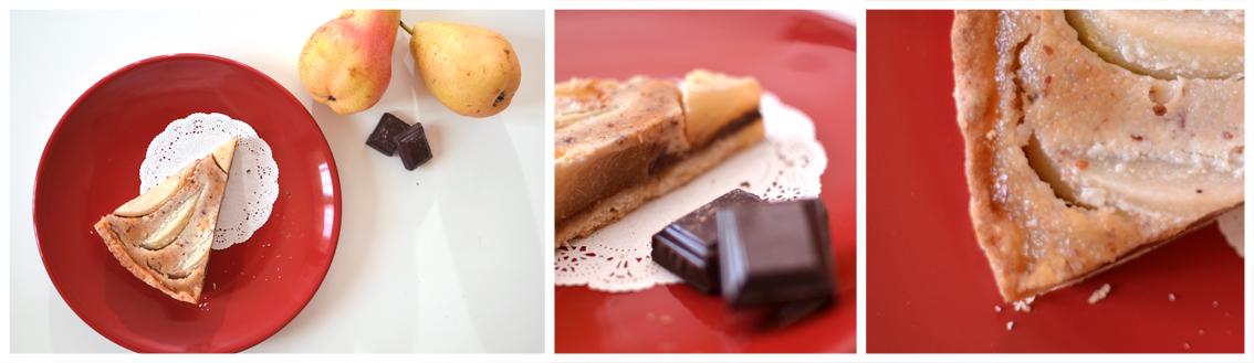 Tarte amandine poire/chocolat façon Crookies - © Crookies