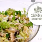 Salade de poulet au fenouil et champignons - © Crookies