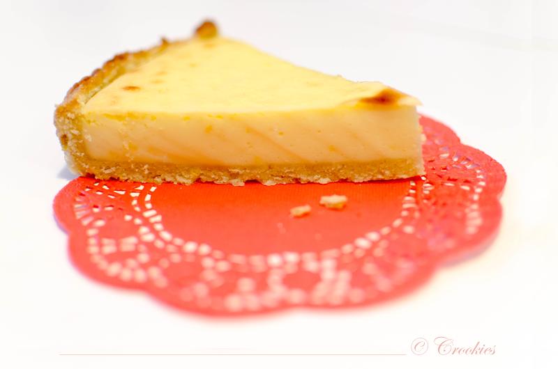 Zoom sur le flan pâtissier au citron - © Crookies