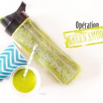 Green smoothie banane/laitue/menthe - photo © Crookies