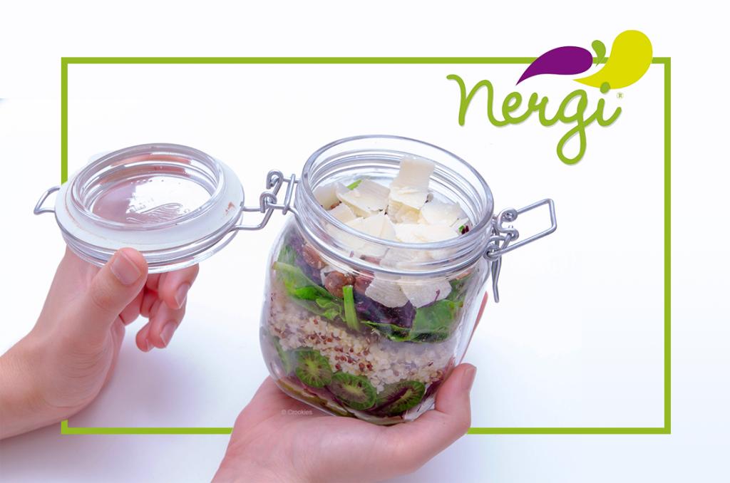Salade végétarienne au kiwi Nergi d'après une recette d'Anne Daumay - photo © Crookies