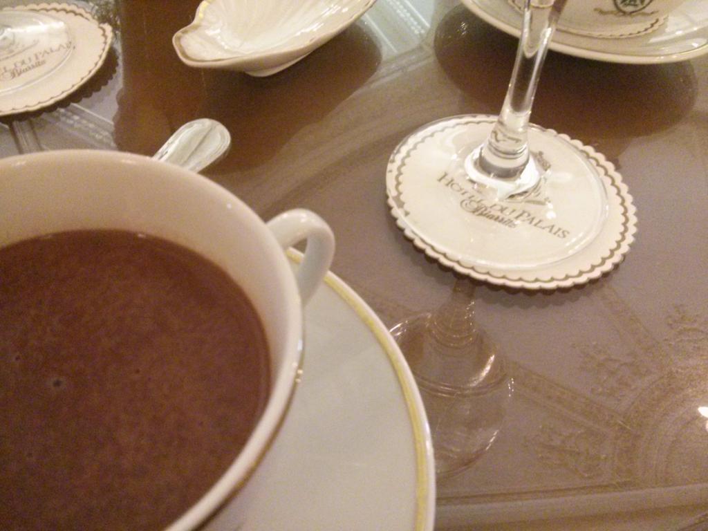 Le chocolat chaud de l'otel du palais