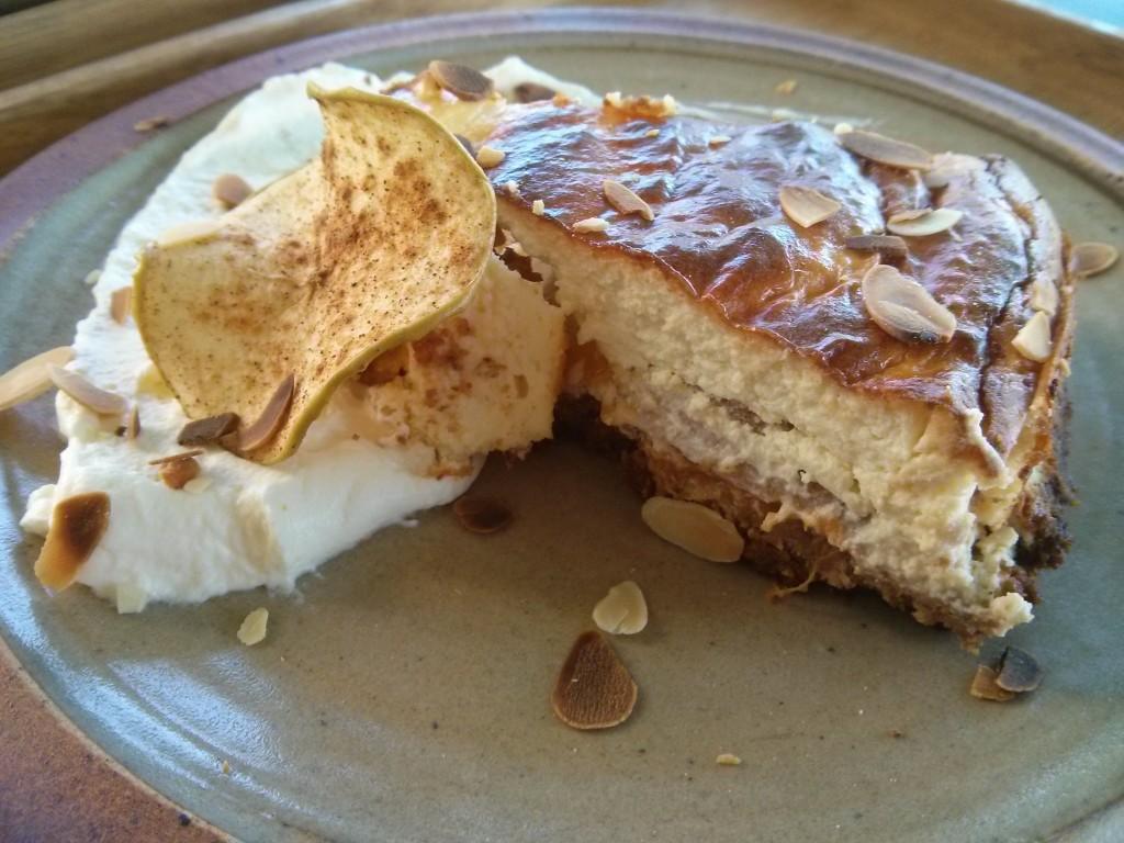 Le Cheesecake à l'abricot du Symbiose - Photo © Crookies