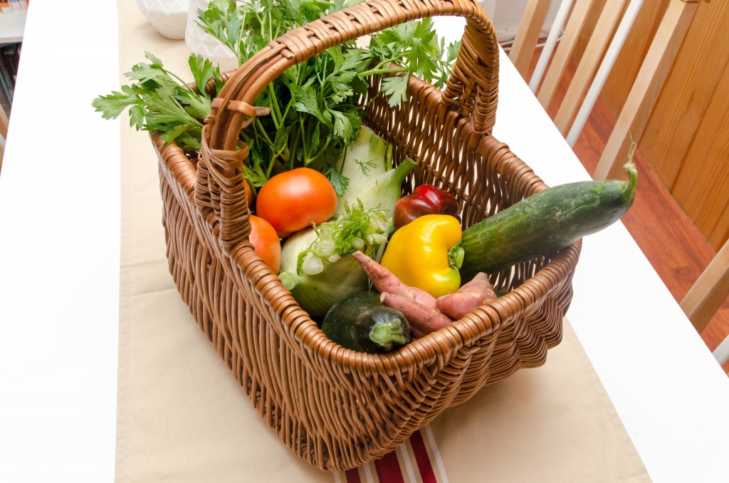 (demi) panier de légumes de l'AMAP de St Genès à Bordeaux (saison : septembre) - Photo © Crookies