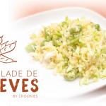 Salade de boulghour aux fèves, courgette, féta et noisettes !