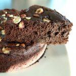 photo du gâteau chocolat et avocat