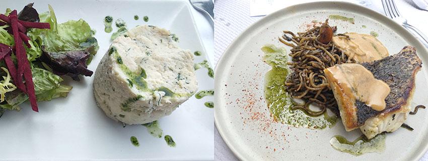 photo de la formule déjeuner (entrée + plat) du Café du port à Bordeaux